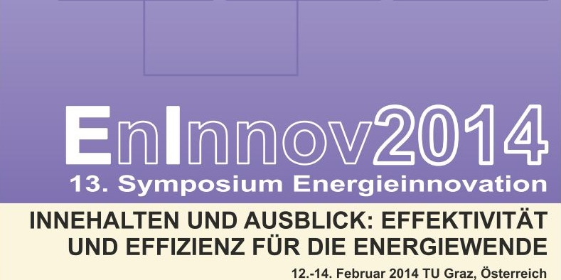 Logo EnInnov2014, 13th symposium energy innovation