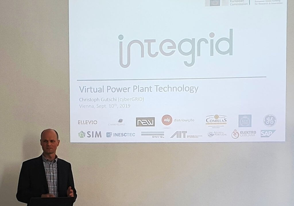 Christoph Gutschi presenting project InteGrid