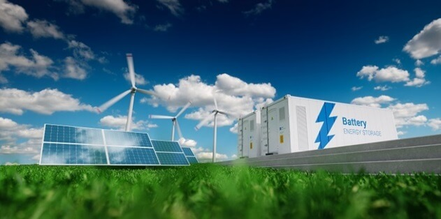 Renewables and battery connected to cyberGRID VPP